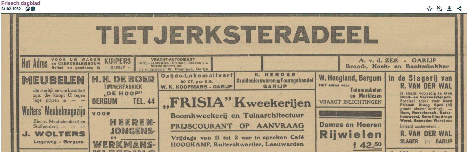 FD 24 02 1932 Advert Ondernemers A