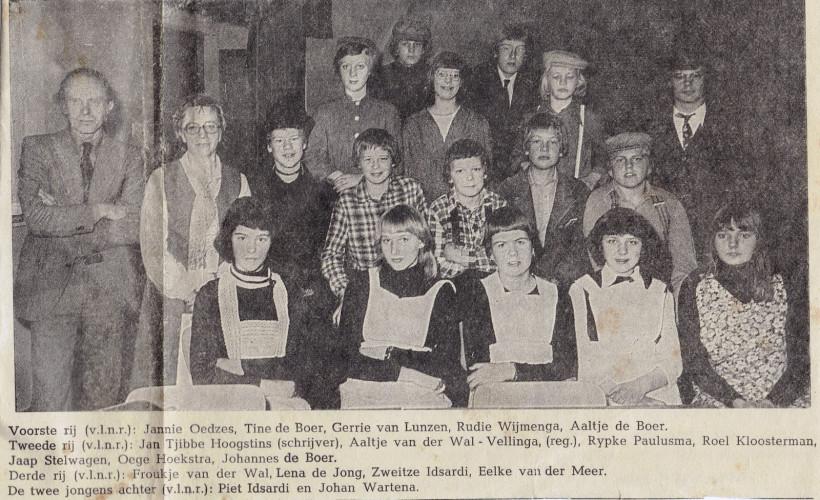 Slotavond Herv.Jeugdclub 1978-79